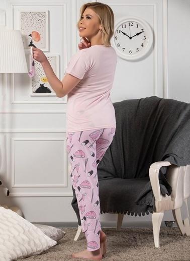 Strawberry Pamuklu Kısa Kol Pijama Takım Pembe